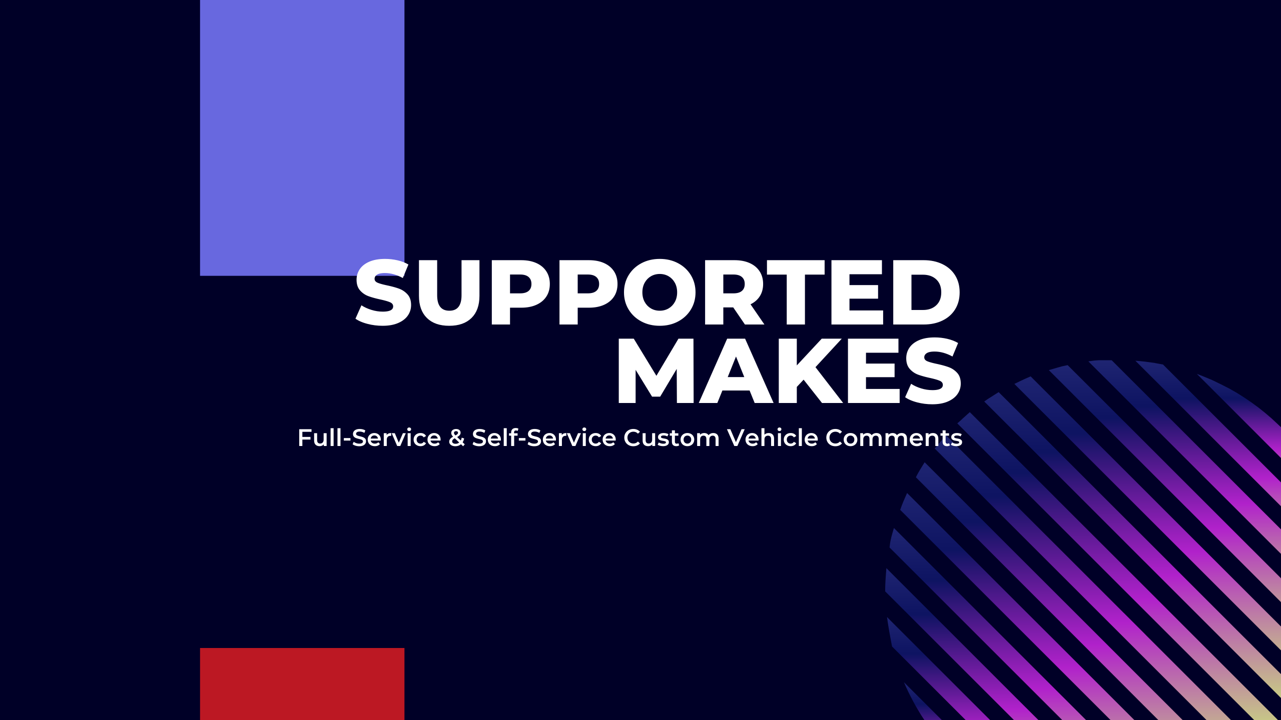 Supported Makes
