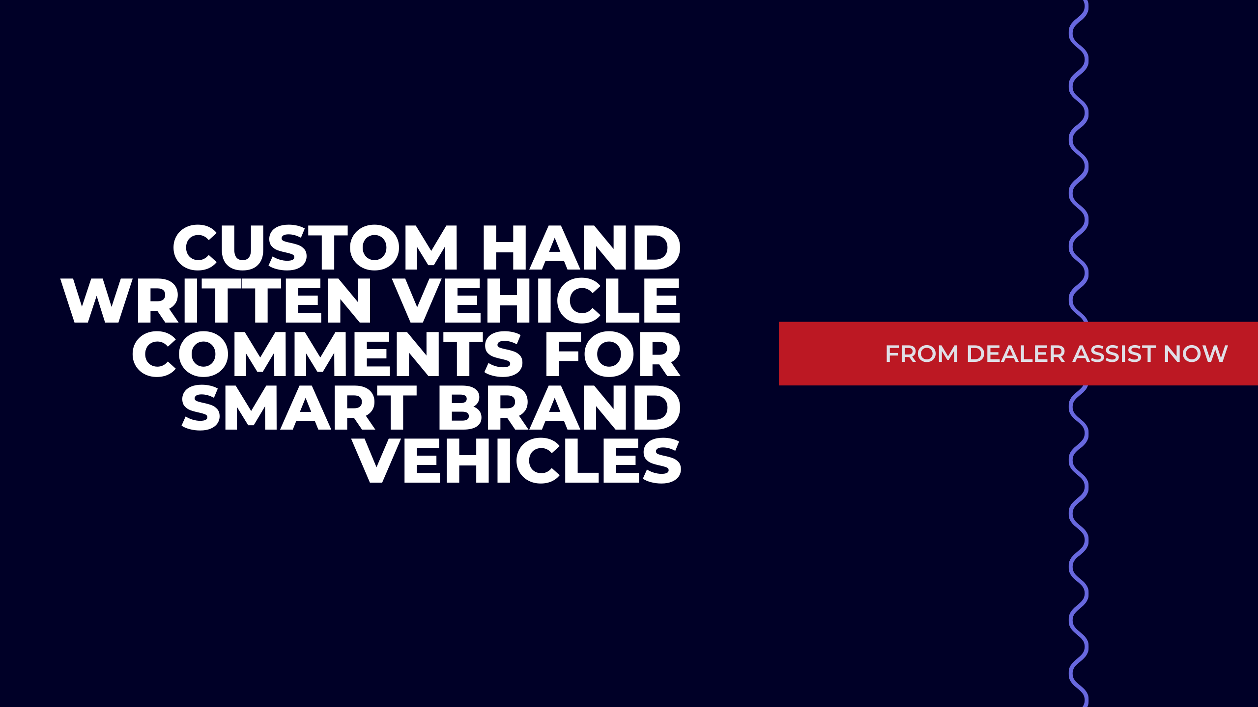 Custom Hand Written Vehicle Comments for Smart Brand Vehicles